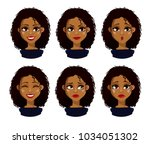 face expressions of african... | Shutterstock .eps vector #1034051302