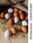 A Lot Of Eggs. Grass  Burlap ...