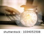 graduated study abroad... | Shutterstock . vector #1034052508