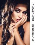 fashion beauty trend portrait...   Shutterstock . vector #1034059042