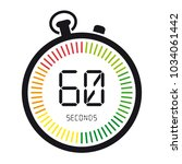 time and clock  60 seconds  ... | Shutterstock .eps vector #1034061442