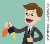 car sale. businessman or... | Shutterstock .eps vector #1034063716