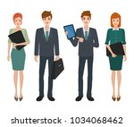 business people teamwork... | Shutterstock .eps vector #1034068462