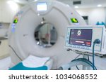 sophisticated of mri scanner... | Shutterstock . vector #1034068552