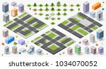 large set of designers top view ... | Shutterstock .eps vector #1034070052