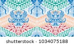 batik motif repeated pattern of ... | Shutterstock .eps vector #1034075188