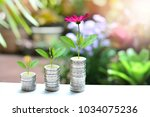 money coins saving growth up to ...   Shutterstock . vector #1034075236