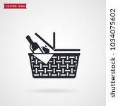 picnic basket icon. vector... | Shutterstock .eps vector #1034075602