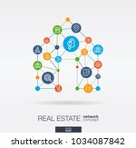 real estate integrated thin... | Shutterstock .eps vector #1034087842