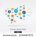 social media integrated thin... | Shutterstock .eps vector #1034087875