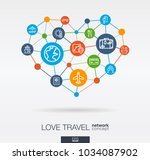 love travel integrated thin... | Shutterstock .eps vector #1034087902