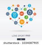 love sport integrated thin line ... | Shutterstock .eps vector #1034087905