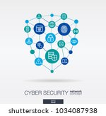 cyber security integrated thin... | Shutterstock .eps vector #1034087938