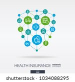 healthcare integrated thin line ... | Shutterstock .eps vector #1034088295