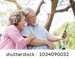 elderly people lifestyles and... | Shutterstock . vector #1034090032
