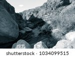 lunar landscape of beautiful... | Shutterstock . vector #1034099515