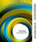 spiral swirl flowing lines 3d... | Shutterstock .eps vector #1034100082