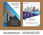design cover poster a4 catalog... | Shutterstock .eps vector #1034102152