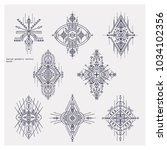 sacred geometry tattoo set.... | Shutterstock .eps vector #1034102356