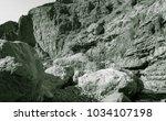 lunar landscape of beautiful... | Shutterstock . vector #1034107198