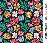 flower blossom and leaves... | Shutterstock .eps vector #1034117566