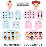 child face constructor vector... | Shutterstock .eps vector #1034126425