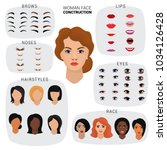 woman face constructor vector... | Shutterstock .eps vector #1034126428
