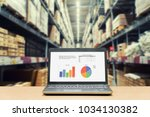 laptop with analysis sale... | Shutterstock . vector #1034130382