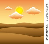 sunset the dawn sun in the... | Shutterstock .eps vector #1034148196