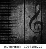 wood musical background | Shutterstock . vector #1034158222