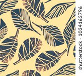 seamless pattern with hand...   Shutterstock .eps vector #1034163796