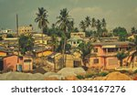 african town. matte background. ... | Shutterstock . vector #1034167276