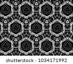 ornament with elements of black ... | Shutterstock . vector #1034171992