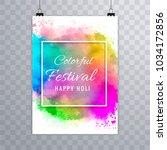 happy holi festival.holi... | Shutterstock .eps vector #1034172856