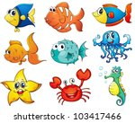 illustration of tropical fish... | Shutterstock .eps vector #103417466