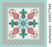 ornamental tile design | Shutterstock .eps vector #1034177446