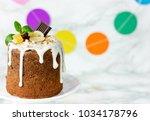 easter bread kulich paska ...   Shutterstock . vector #1034178796