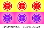 set of red and purple sale... | Shutterstock .eps vector #1034180125