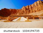 the mortuary temple of... | Shutterstock . vector #1034194735