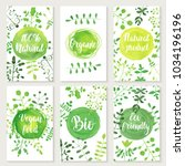 set of eco friendly labels... | Shutterstock .eps vector #1034196196