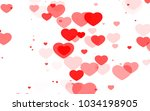 red and pink heart. valentine's ... | Shutterstock . vector #1034198905