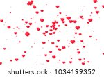 red and pink heart. valentine's ... | Shutterstock . vector #1034199352