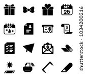 solid vector icon set   gift... | Shutterstock .eps vector #1034200216