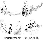 musical designs sets with... | Shutterstock .eps vector #103420148