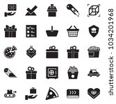 solid black vector icon set  ... | Shutterstock .eps vector #1034201968