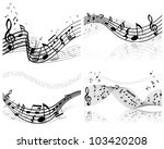 musical designs sets with... | Shutterstock .eps vector #103420208