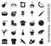 solid black vector icon set  ... | Shutterstock .eps vector #1034203135