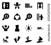 solid vector icon set  ... | Shutterstock .eps vector #1034205058