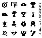 solid vector icon set   target... | Shutterstock .eps vector #1034205895