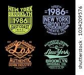 tee prints vector set | Shutterstock .eps vector #1034209576